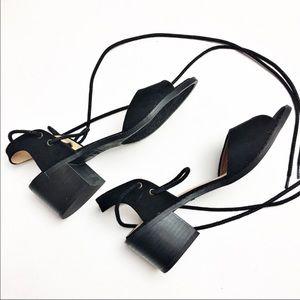 Esprit block heel lace ankle sandals